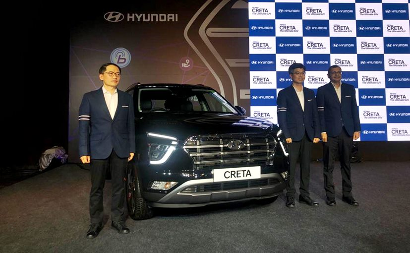 S S Kim, MD & CEO and Tarun Garg, Dir Sales & Marketing Hyundai India with the Hyundai Creta