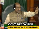 "Video : ""Discussion On Delhi Violence After Holi"": Opposition Fumes Over Speaker's Remarks"