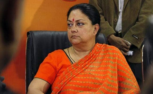 'Rajasthan People Are Paying For Congress Discord': BJP's Vasundhara Raje