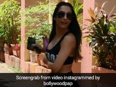 मलाइका अरोड़ा की तस्वीरें खींच रहे थे फोटोग्राफर्स, तभी एक्ट्रेस ने पीछे मुड़कर किया ये इशारा... देखें Video