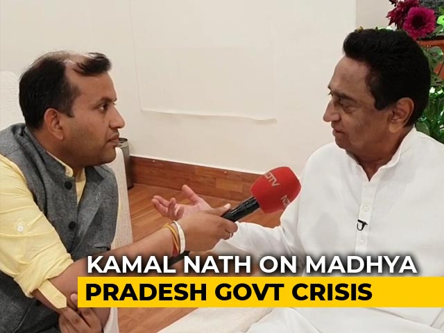 "Video : ""Secret Talks"" With Rebel MLAs: Kamal Nath To NDTV Ahead Of Trust Vote"