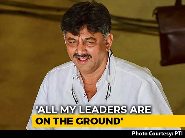 "Video : ""Most Will Return"": DK Shivakumar Says In Touch With Rebel Congress MLAs"