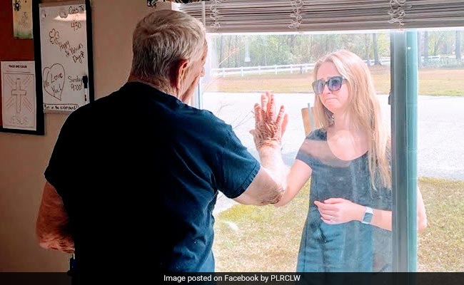 Woman Shares News Of Engagement With Grandpa Through Nursing Home Window