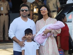 Shilpa Shetty And Raj Kundra Spotted With Baby Samisha For The First Time. See Pics