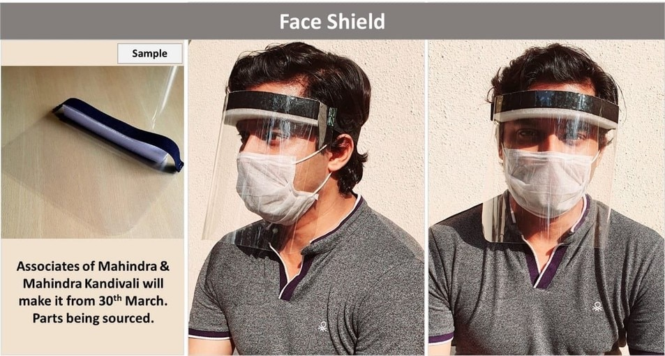 Coronavirus Pandemic: Mahindra To Manufacture Face Shield From March 30
