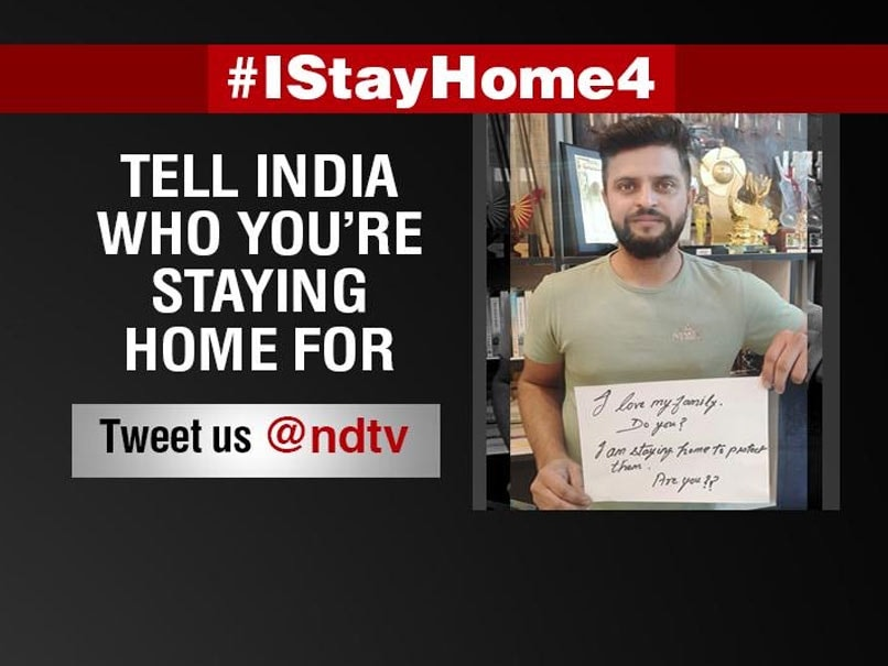 "Coronavirus: Suresh Raina Urges People To ""Stay Home"" With Emotional Message"