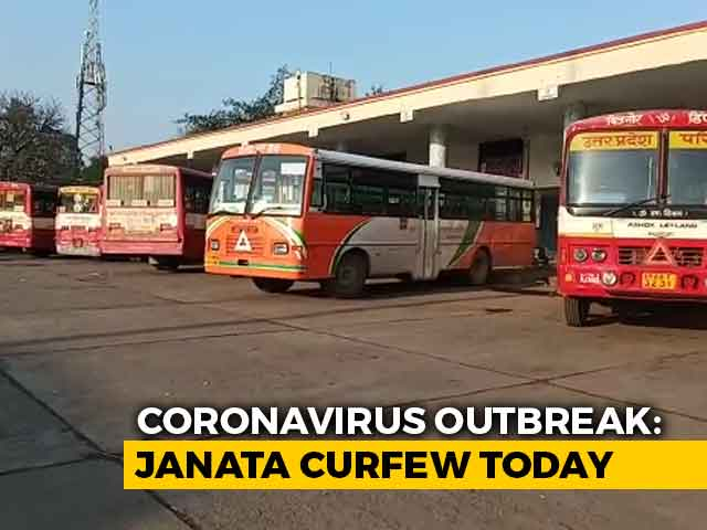 "Video : Millions Stay In For ""Janata Curfew"" To Fight Coronavirus"