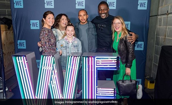 Days Before Coronavirus Test, Idris Elba Posed With Justin Trudeau's Wife