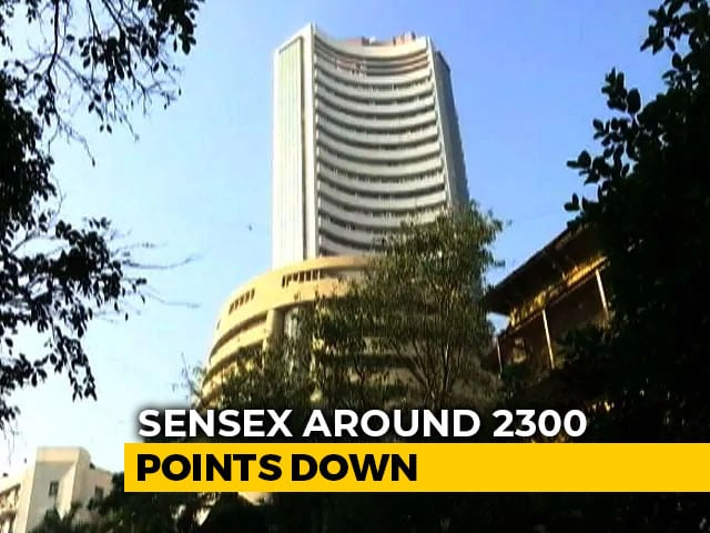Video : Sensex 2,300 Points Down Amid Coronavirus Crisis, Biggest Fall Since 2010