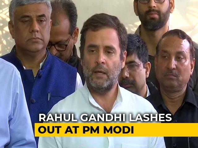 """Video : """"PM Is Asleep"""": Rahul Gandhi Attacks Centre On Economy, Coronavirus"""