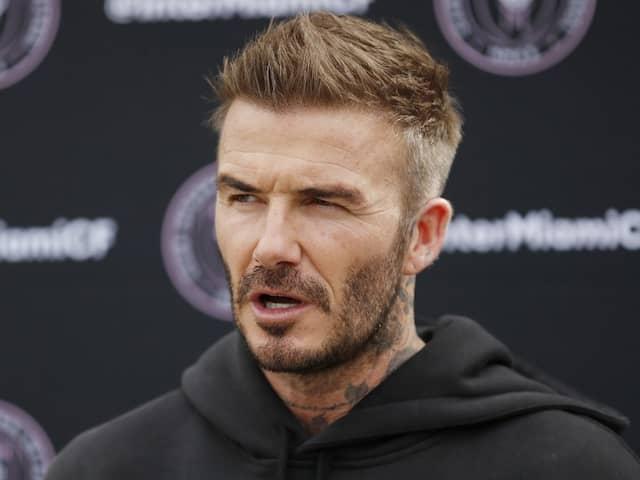 David Beckham Visits Empty Stadium As MLS Clubs Home Debut Delayed