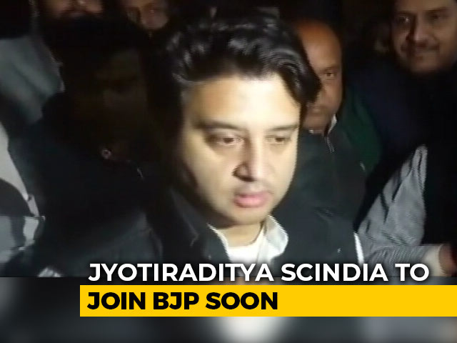 Video : Jyotiraditya Scindia To Join BJP Soon, His MLAs Reluctant: Sources