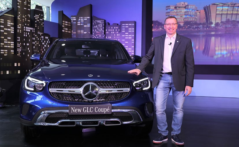 Martin Schwenk, CEO, Mercedes-Benz India at the GLC coupe Facelift launch.