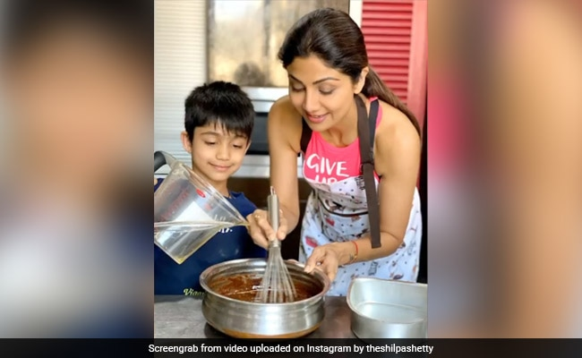 How Shilpa Shetty And Son Viaan 'Baked The Quarantine Blues Away'