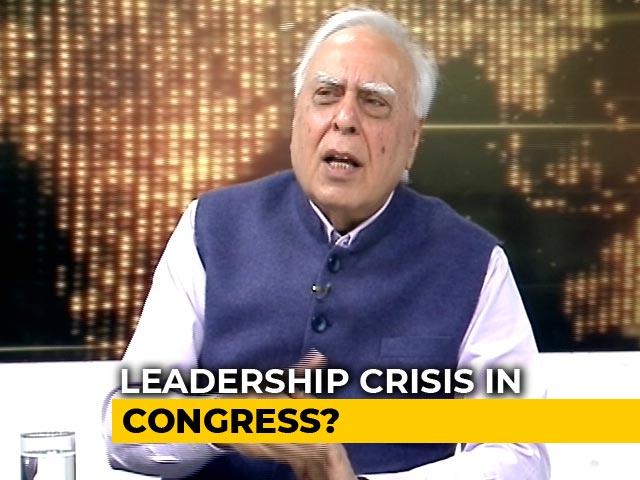 Video : BJP Trying To Destabilise Congress Govts: Kapil Sibal To NDTV