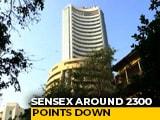 Video : Sensex 2,300 Points Down Amid Coronavirus Crisis, Biggest Fall Since 2010
