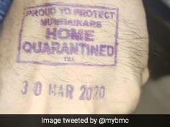 Maharashtra Stamps Left Hand Of Those In Home Quarantine