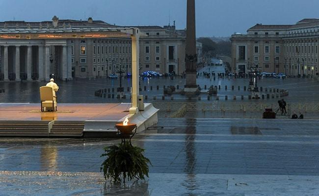 Pope Francis Faces Coronavirus 'Tempest' Alone At Vatican City Square