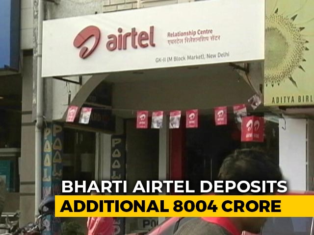 Video : Bharti Airtel Pays Additional Rs 8,004 Crore In Statutory Dues
