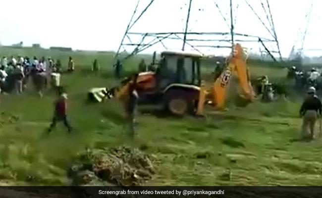 UP Officials Crush Crops Amid Protests By Farmers. Priyanka Gandhi Tweets