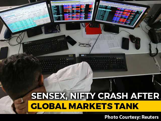 Video : Sensex Drops Over 2,700 Points, Nifty Below 9,700 In Biggest Crash Ever