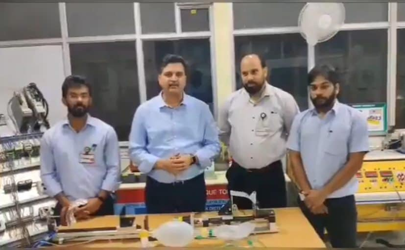 Mahindra's technical team that built the prototype ventilator in 48 hours