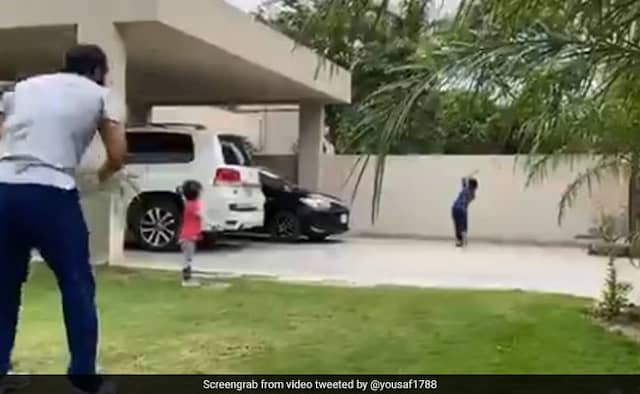 Mohammad Yousaf shares video of his son playing sublime drives with a straight bat