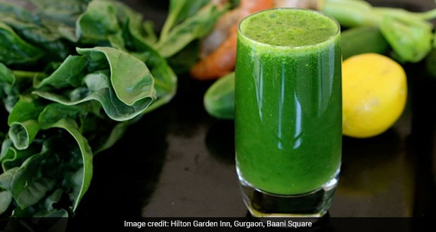 Cucumber, Kale And Spinach Juice