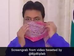 Now Biplab Deb Has A <i>Jugaad</i> For Masks To Protect Against Coronavirus