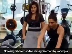 दीपिका पादुकोण जिम में कर रही थीं एक्सरसाइज, तभी बजा Lungi Dance और फिर... देखें Video