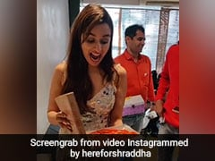 Watch: Shraddha Kapoor's Fans Gift Her A Giant Jalebi, Her Reaction Is Priceless