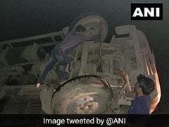 5 Killed As Truck Overturns In Maharashtra's Mumbai-Pune Highway
