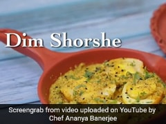 Indian Cooking Tips: Amp Up Your Weekend Lunch Menu With 'Dim Shorshe' (Recipe Video Inside)