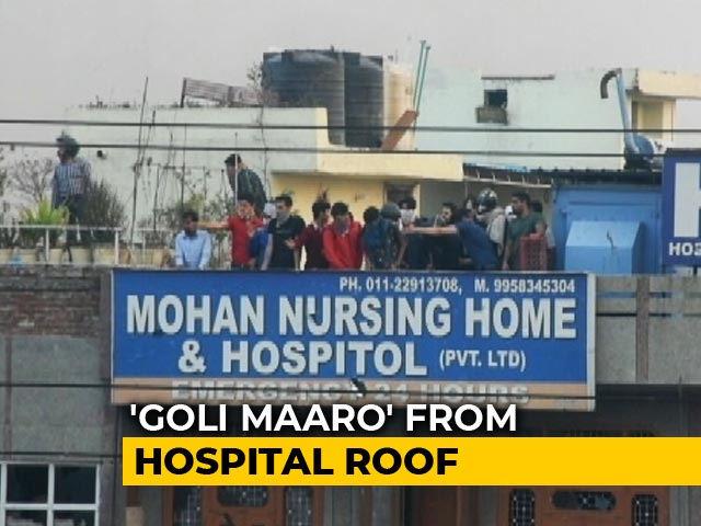 Video : New Video Shows Men Firing At Crowd From Hospital During Delhi Clashes