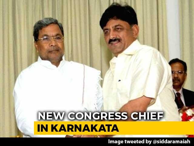"Video : DK Shivakumar Is Karnataka Congress Chief, ""Congrats"", Says Siddaramaiah"