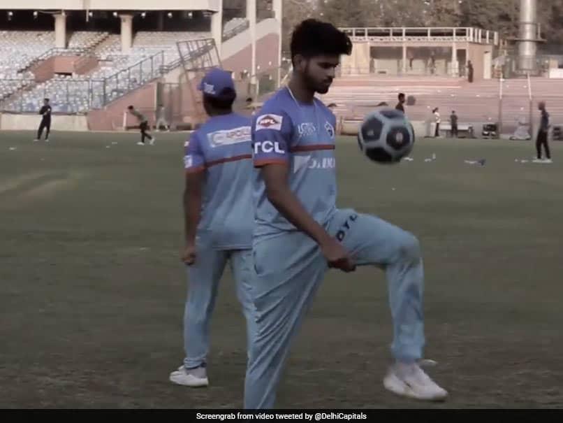 Watch: Shreyas Iyer Shows Off His Football Skills With Keepy Uppies