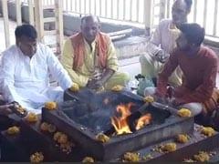 "Madhya Pradesh Minister's ""<i>Shatru Vinashak</i>"" Ritual Amid Political Crisis"