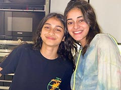 Here's What Ananya Panday Did While Sister Rysa Baked Cookies