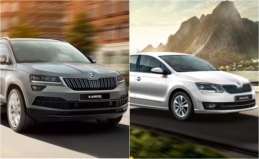 The Skoda Karoq and Rapid 1.0 TSI can be booked for a token of Rs. 50,000