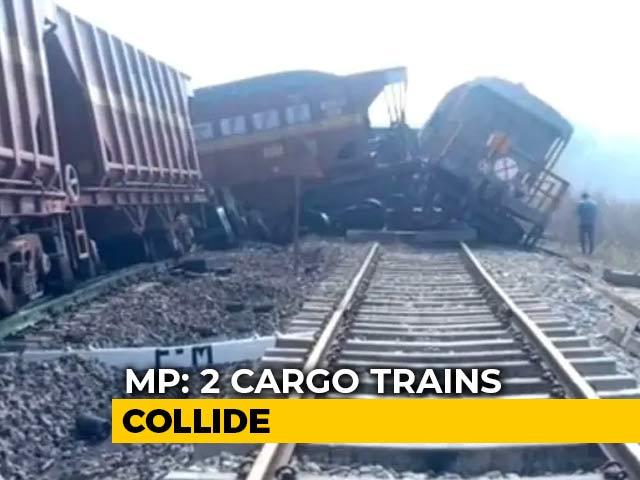 Video : 2 Cargo Trains Collide In Madhya Pradesh, 3 Dead