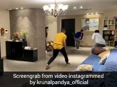 """Can Have Fun Indoors Too"": Pandya Brothers Play Cricket At Home Amid Lockdown. Watch"