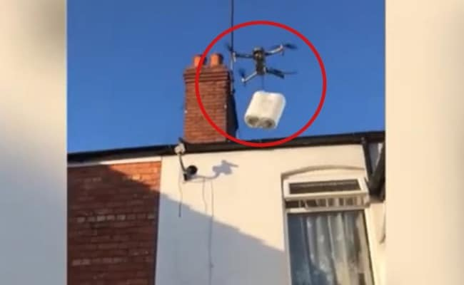 Watch: Man Uses Drone To Deliver Toilet Roll To Sister