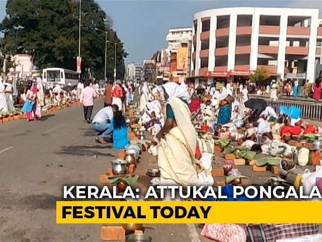 Video : Lakhs On Kerala Streets For Attukal Pongala Despite Coronavirus Fears