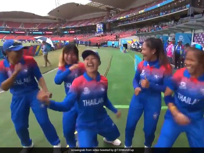 Watch: Thailand Women Cricketers Break Into Impromptu Dance During Rain Break In Womens T20 World Cup