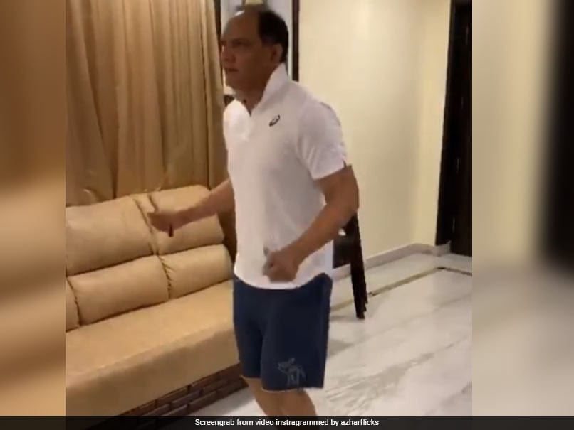 """""""Be Home And Safe"""" Mohammad Azharuddin Shares Video Of Workout"""