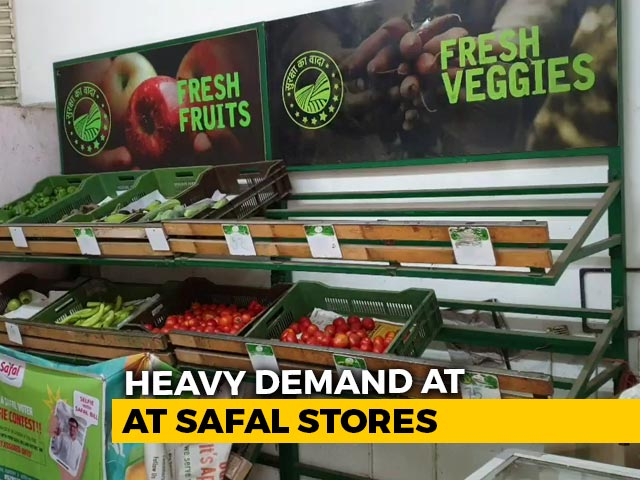Video : SAFAL Retail Chain Sees High Demand As Buyers Rush To Stockpile Amid Lockdown