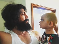 <I>KGF</I> Star Yash's Daughter Not Happy About Her Summer Special Haircut. See ROFL Pic