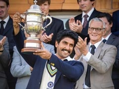 <I>'83</i>: Ranveer Singh Recreates Iconic Moment When Kapil Dev Lifted The 1983 World Cup Trophy