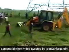 UP Officials Crush Crops Amid Protests By Farmers. Priyanka Gandhi Tweets