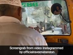 रवीना टंडन भतीजी की मेहंदी सेरेमनी के लिए हो रही थीं लेट, पकड़ा ऑटो और फिर... देखें Viral Video